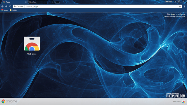Abstract Blue Chrome Theme