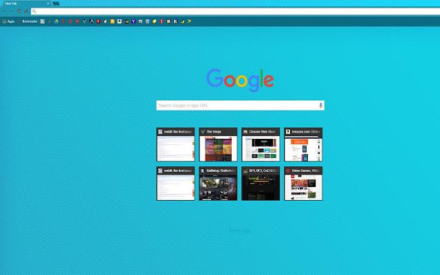Blue Gradient With Diagonal Lines Chrome Theme