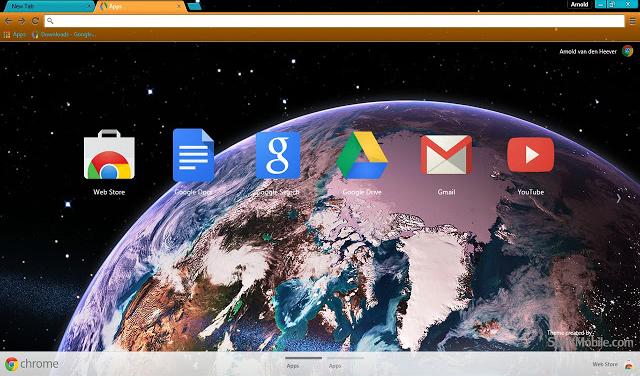 Earth HD Chrome Theme