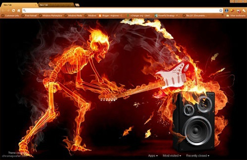 Fiery Music Chrome Theme