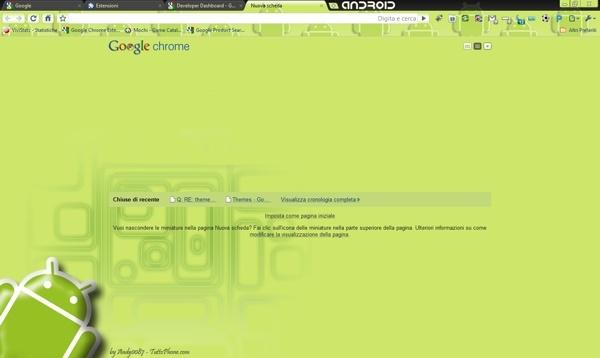 Android Green Robot Chrome Theme