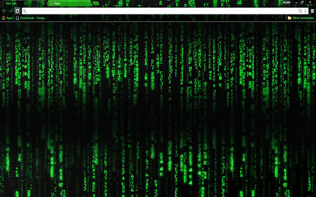 Hacker Chrome Theme