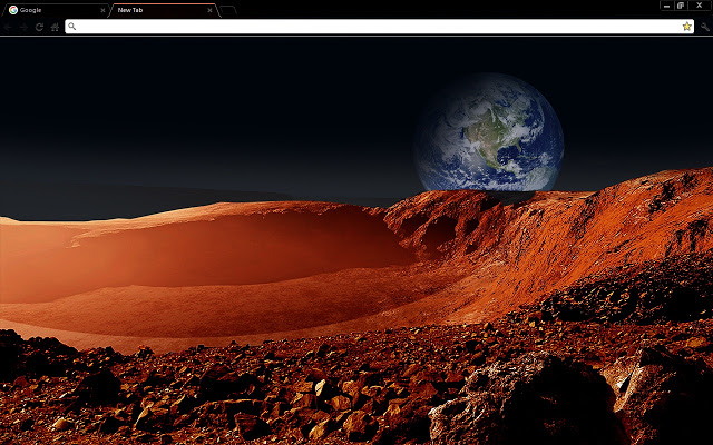 Martian landscape space chrome theme chrome themes - Winter theme chrome ...