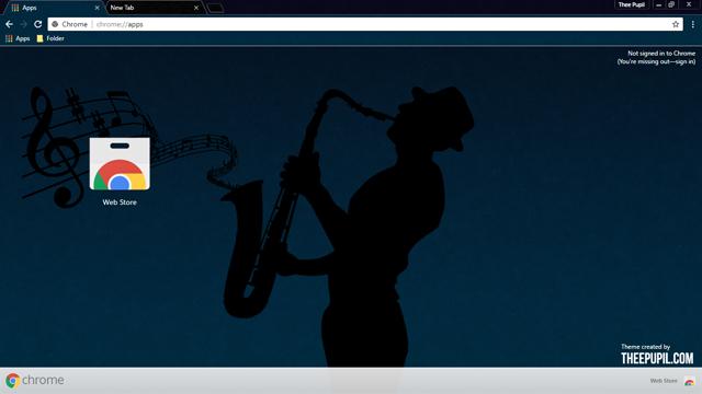 Midnight-Blues Chrome Theme