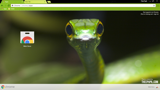 Slithering Snake Chrome Theme
