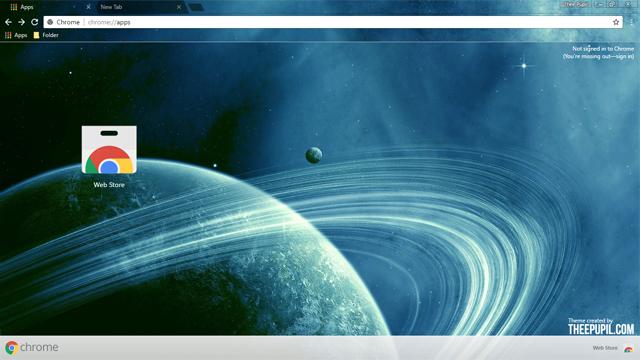 Space Planet Chrome Theme