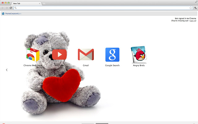 Teddy Bear Chrome Theme