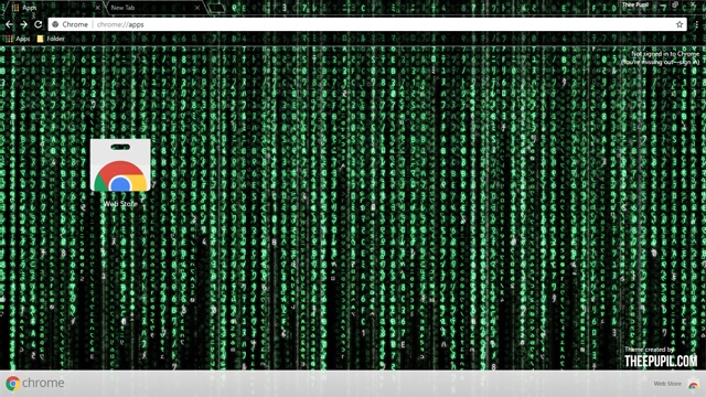 The Matrix Chrome Theme