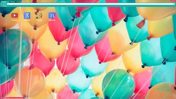 Colorful Balloons Chrome Theme