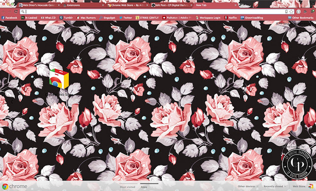 CPDD-Floral Chrome Theme
