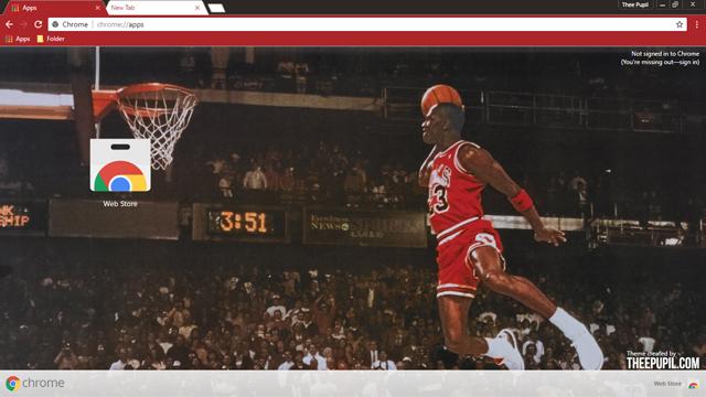 Michael Jordan Chrome Theme