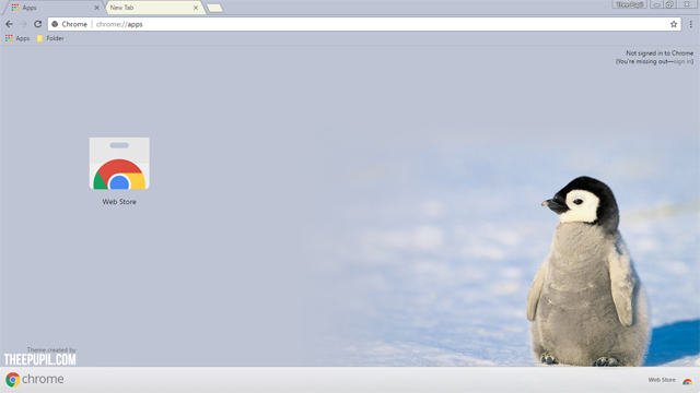 Penguin Chrome Theme
