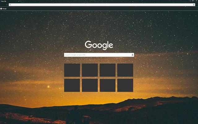 Sky At Night Chrome Theme