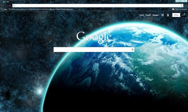 Space Earth Chrome Theme
