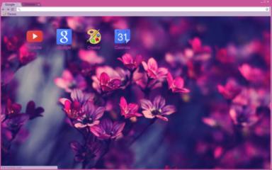 Purple Flowers Chrome Theme