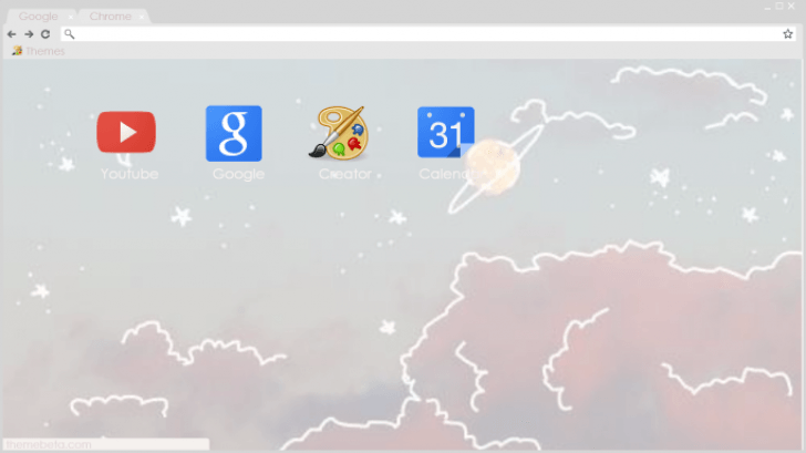 Pastel Tumblr Sky Chrome Theme