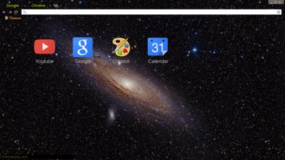Andromeda Galaxy Chrome Theme