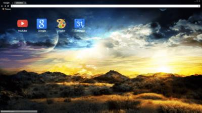 Extraterrestrial Chrome Theme