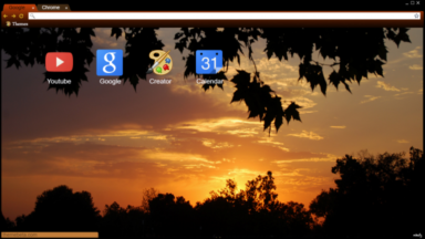 California Sunset Chrome Theme