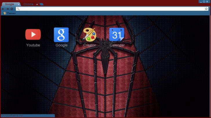 Spiderman Logo Chrome Theme