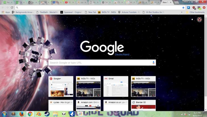 Interstellar Chrome Theme