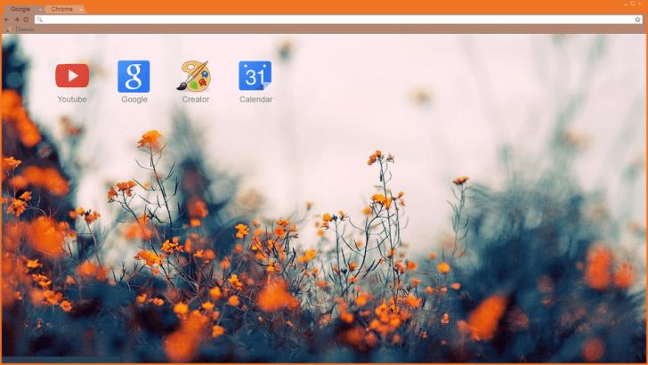 Wild Flowers Chrome Theme