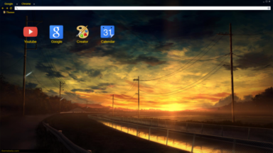Sunset Chrome Theme