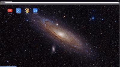 Space Galaxy Chrome Theme