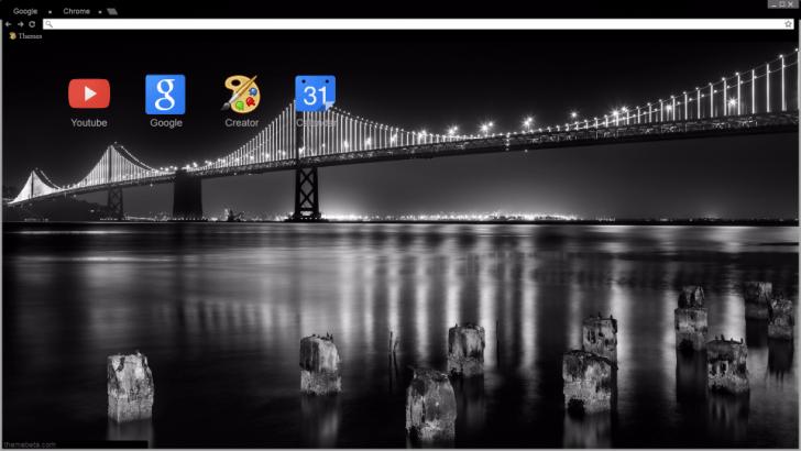 Oakland Bay Bridge, San Francisco Chrome Theme