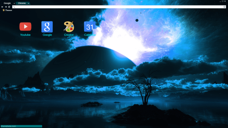 Deep Space Horizon Chrome Theme