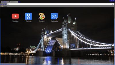 Tower Bridge At Night Chrome Theme