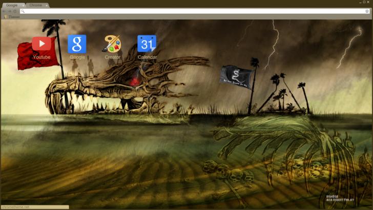 Skull Sanctuary Chrome Theme