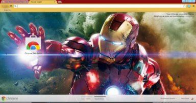 Iron Man In Action Chrome Theme