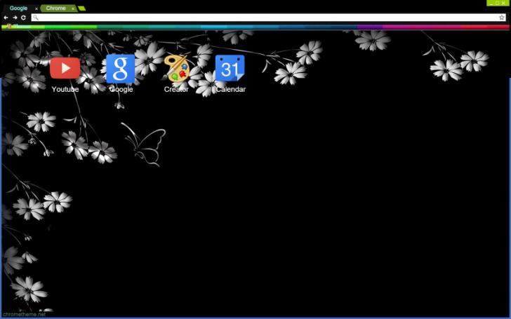 Simple Flowers Chrome Theme