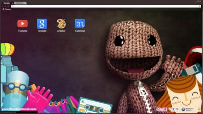 LittleBigPlanet Sackboy Chrome Theme