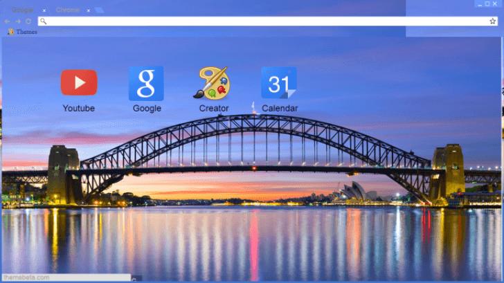 Sydney Harbour Bridge Chrome Theme