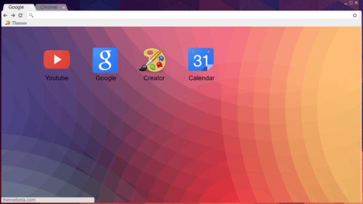 Modern Geometric Chrome Theme