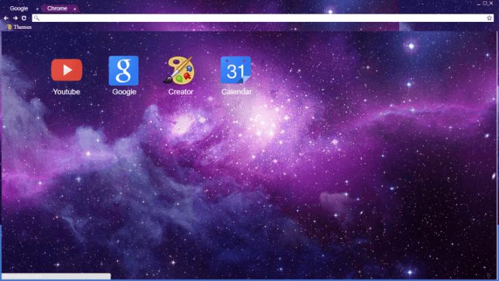 Purple Space Chrome Theme