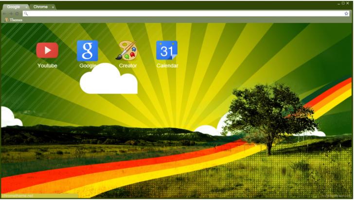 Rainbow Tree Chrome Theme