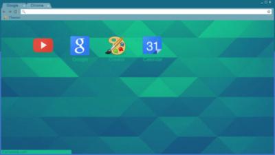 Green Blue Chrome Theme
