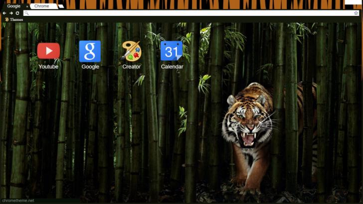 Tiger Bamboo Chrome Theme