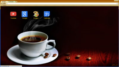 Cup Of Coffee Chrome Theme