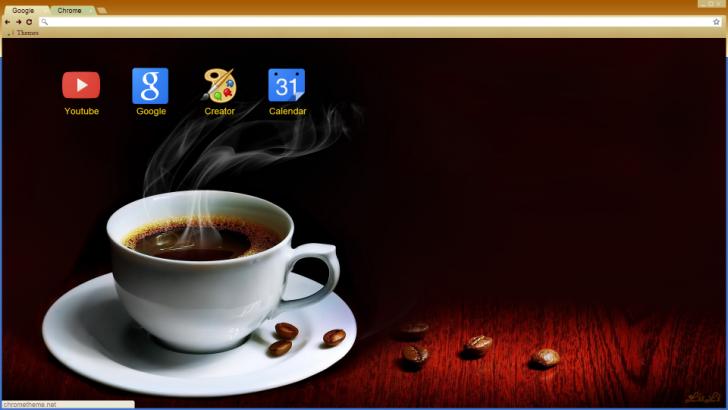 Cup Of Coffee Chrome Theme