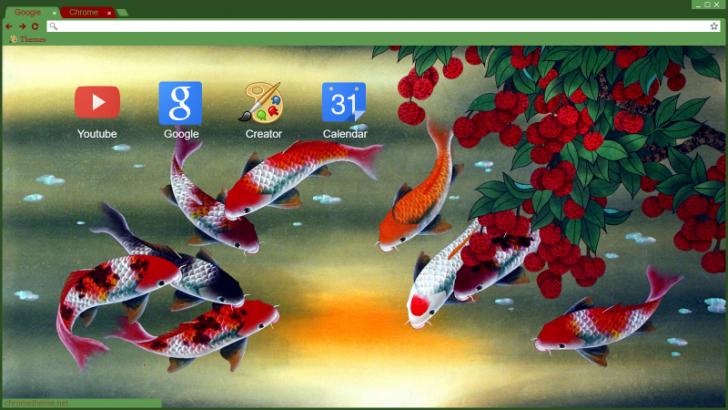 Koi Fish Chrome Theme