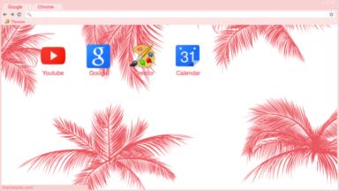 Pink Palm Trees Chrome Theme