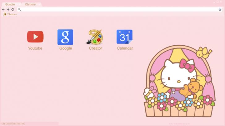 Hello Kitty Chrome Theme