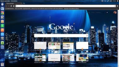 New York Blue City Chrome Theme