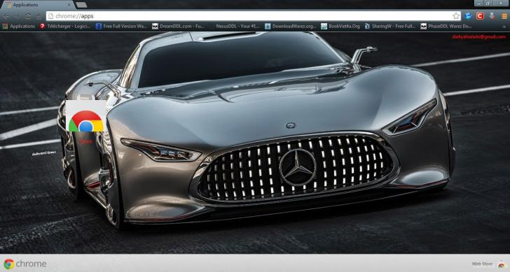 Mercedes-Benz Amg Vision Gran Turismo Chrome Theme