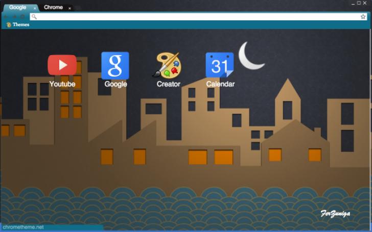 Cardboard City Chrome Theme