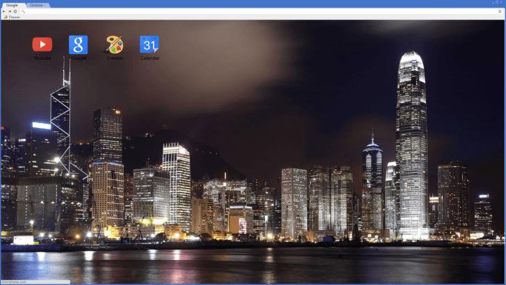 Cityscape Night Chrome Theme